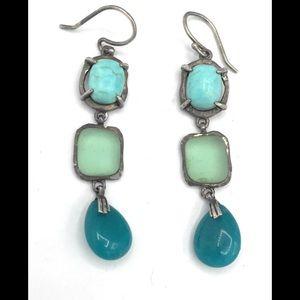 W2359 Silpada Sterling Silver Howlite Earrings (b)